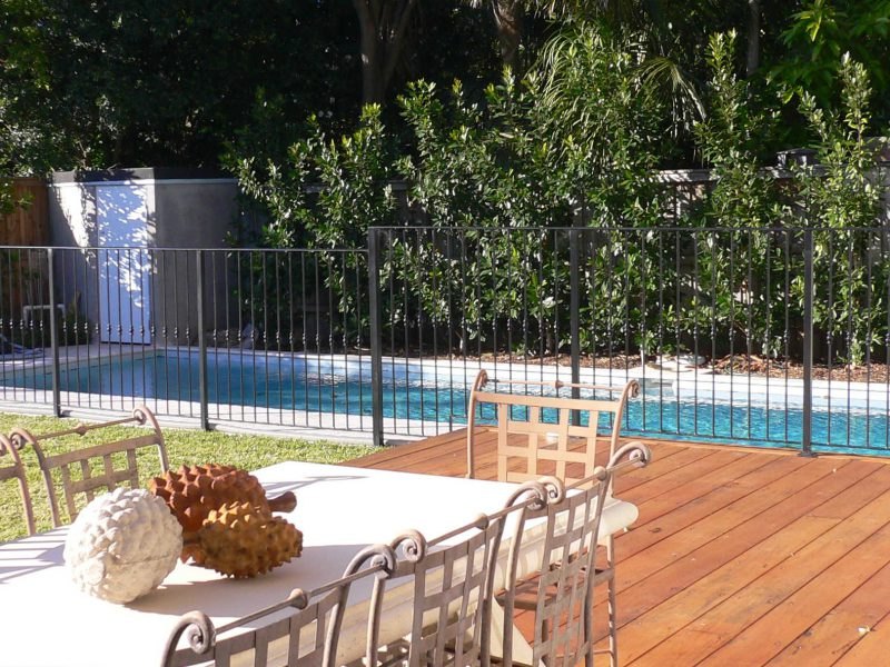 Wrought iron pool fences